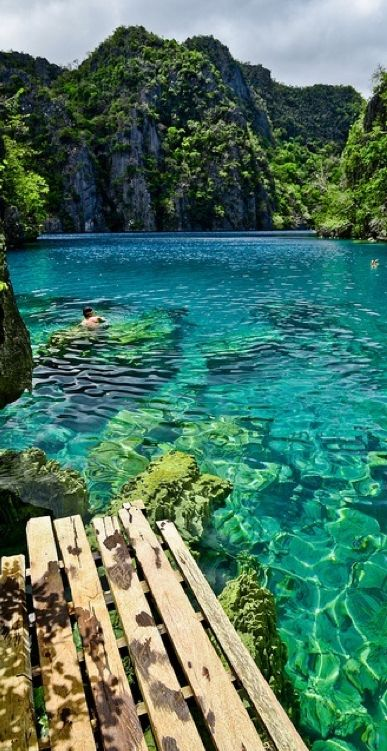 Kayangan Lake in the Coron Islands of Palawan, Philippines.