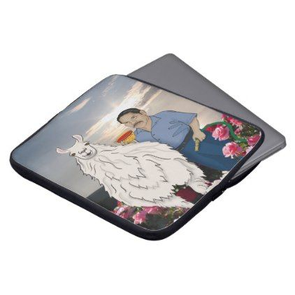 St. Luis & Llama Laptop Case  $33.50  by Order_of_Saint_Luis  - custom gift idea