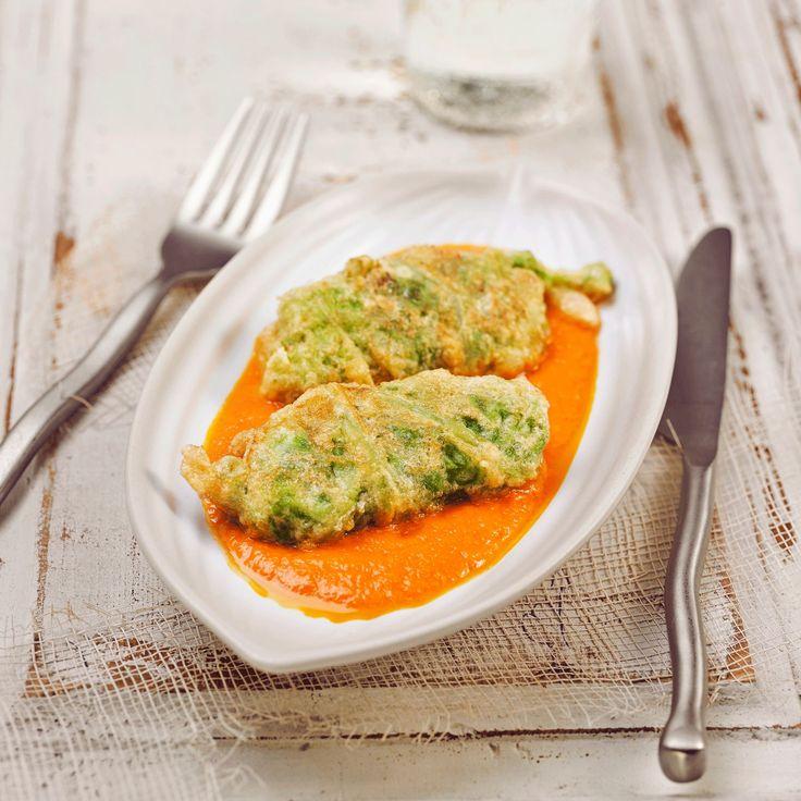 Découvrez la recette Petits choux farcis à l'espagnole, sauce aux poivrons sur cuisineactuelle.fr.
