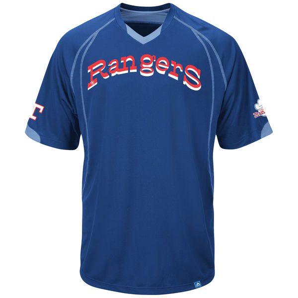 Texas Rangers Majestic Legacy of Champions T-Shirt - Royal Blue - $44.99