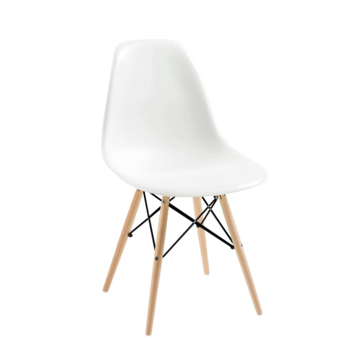 Eiffel dining chair with beech legs white £240 for four chairs