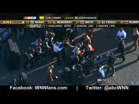 NASCAR Fight: Jeff Gordon, Clint Bowyer- The best one in a long time