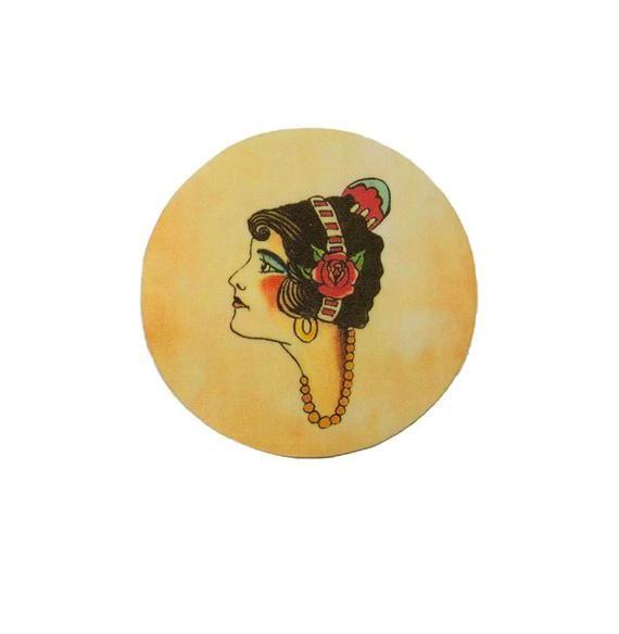 Gypsy – Flash – Iron on Patch – Tattoo – Senorita – Rockabilly – Lady – Rose – Circle – Sailor Jerry   – Products