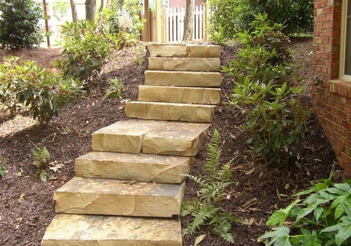 Best Crab Orchard Steps Patio Stones Hardscape Beautiful 640 x 480