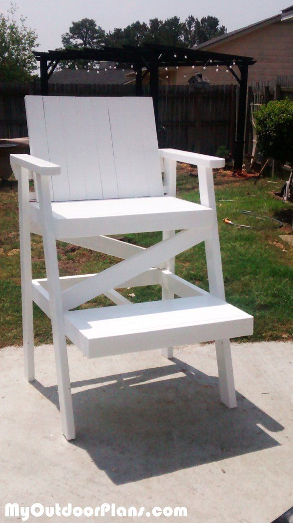 DIY Lifeguard Chair | MyOutdoorPlans | Free Woodworking Plans and Projects, DIY Shed, Wooden Playhouse, Pergola, Bbq