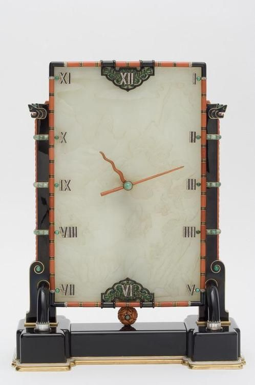 aleyma:  Louis Cartier and Maurice Couet, Clock, 1927 (source).