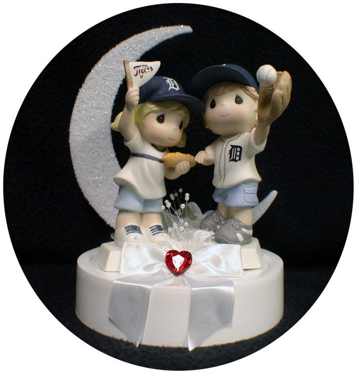 Michigan Detroit TIGERS Baseball FANS Wedding Cake Topper FUN soft ball Sports. $142.00, via Etsy.