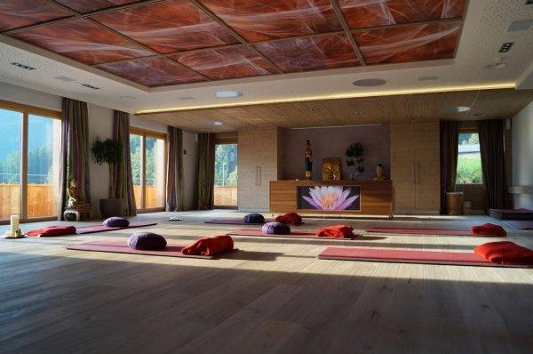 Energieraum für Gymnastik und Yoga im Stock***** resort im Zillertal