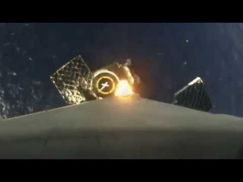 Amazing Sped Up Video of the SpaceX Falcon 9 Rocket First-Stage Landing on the Droneship