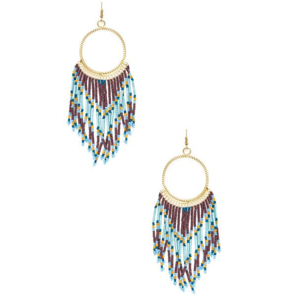 Shashi Women's Eden Statement Earrings ($29) ❤ liked on Polyvore featuring jewelry, earrings, multi, beaded earrings, shashi, fish hook jewelry, fish hook earrings and statement earrings