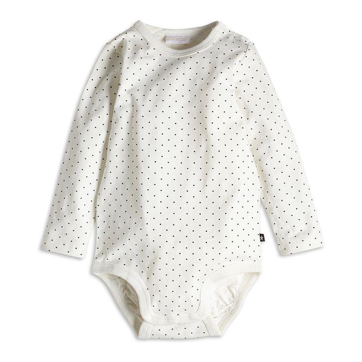 Polka Dot Bodysuit, White, Tops, Kids | Lindex