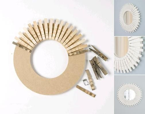 DIY Clothespin Peggy Mirror 11DIY ideas for the home