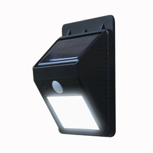 Bright Outdoor LED Light Solar Energy Powered – Weatherproof – No Tools Required; Peel 'n Stick / Motion Sensor-Detector Activated / For Patio, Deck, Yard, Garden, Home, Driveway, Stairs, Outside Wall / Wireless Exterior Security Lighting (No Battery Required) / Dusk to Dawn Dark Sensing Auto On / Off