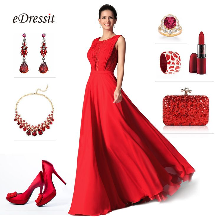 Gorgeous red dress match! #edressit #fashion_match # ...