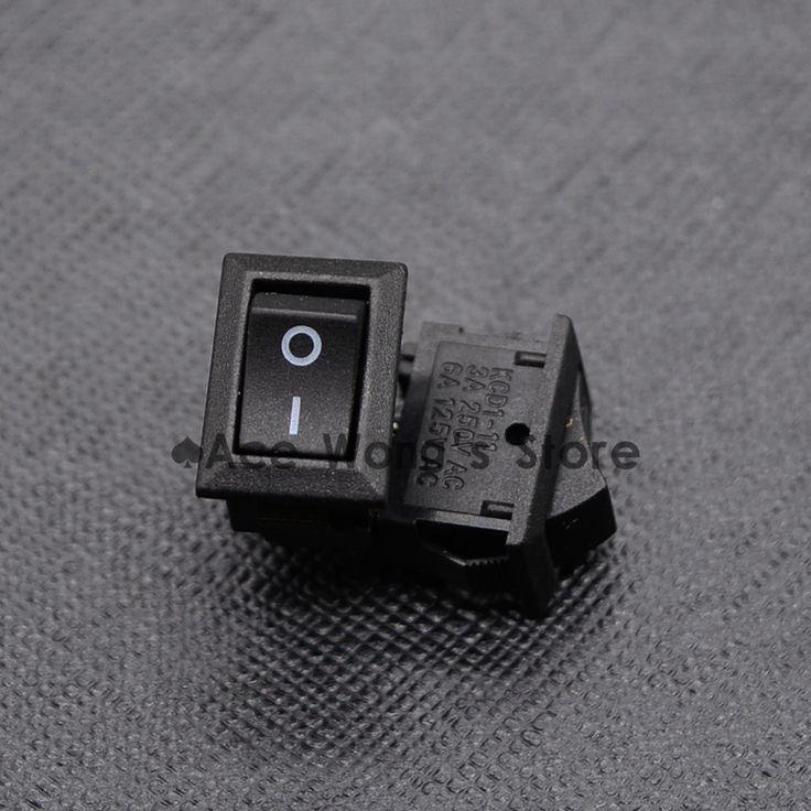 10 pcs AC 250 V 3A 2 Pin ON/OFF I/O SPST Snap in Mini Boat Rocker commutateur 10*15 MM