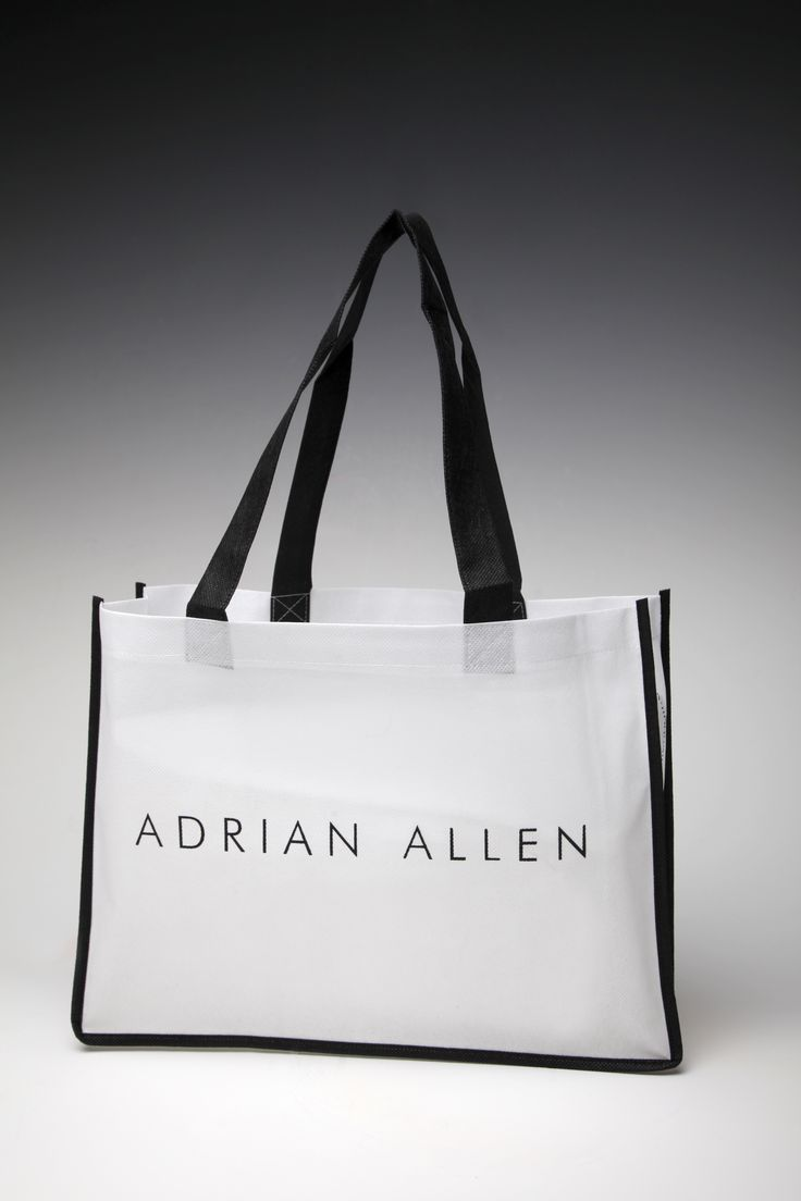 A Non-woven tote with coloured piping -no added extra cost.