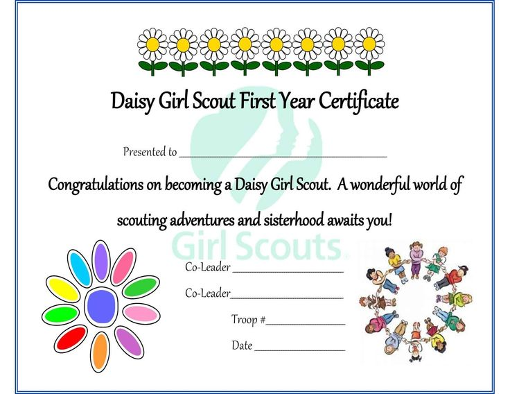 8 best Girl Scout printable certificates images on Pinterest - congratulations certificate