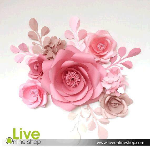 Nis Flower Decoration Fiori Di Carta Giganti Sfondo Con Fiori Di Carta Fatto A Mano
