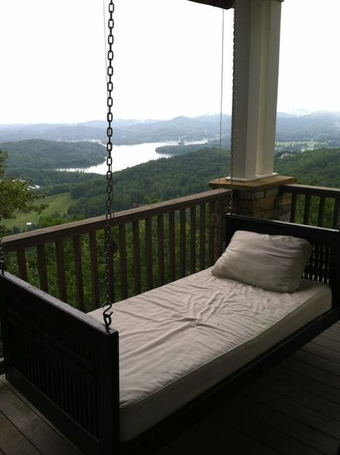 : Mountain Cabins, Hanging Beds, Hammocks, Sleep Porches, The View, House, Front Porches, Porches Swings, Swings Beds