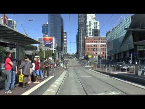 Melbourne Trams - A typical Sunday on Route 96 March 2015 Tram Drivers View - YouTube
