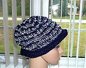 Winter Reversible Crocheted ladys Hat
