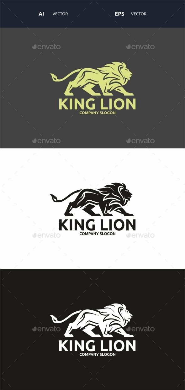 King Lion logo — Vector EPS #vector #power • Available here → https://graphicriver.net/item/king-lion-logo/12784589?ref=pxcr
