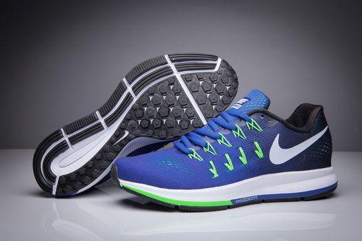 Nike Air Zoom Pegasus 33 Blue Navy Gradient Black 831356 413