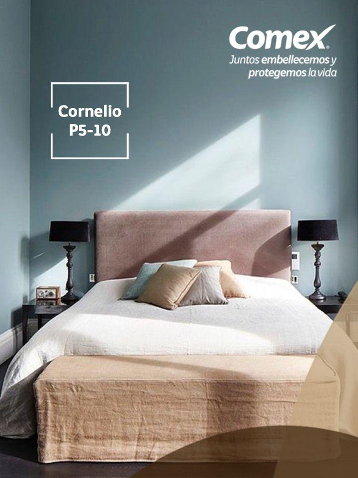 Los colores fríos como el color #Cornelio transformarán tus espacios. #ComexPinturerías #Natural #Decoración