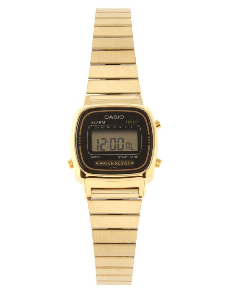 Casio Gold Plated Mini Digital Watch