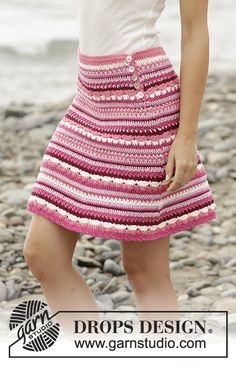 Berry Ripple Skirt By DROPS Design - Free Crochet Pattern - (garnstudio)