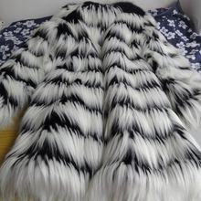 Güz kış kadın siyah beyaz çizgili faux kürk, kadın yapay sahte kürklü palto, sıcak ceketler ve coats artı boyutu(China (Mainland))