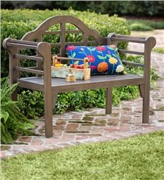 Lutyens Wood Garden Bench With Folding Design