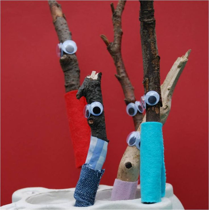 Read 'Stick Man' by Julia Donaldson & Axel Scheffler before making your own.