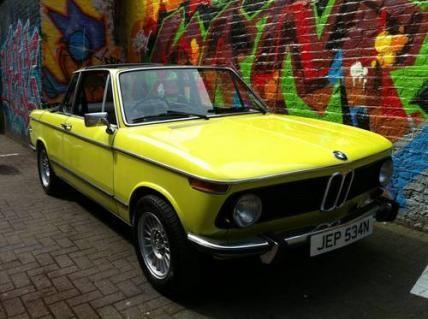 1975 BMW 2002 Baur Convertible #VCI #vintagecars #classiccars