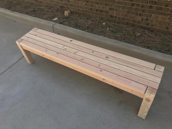 how to make wooden benches outdoor