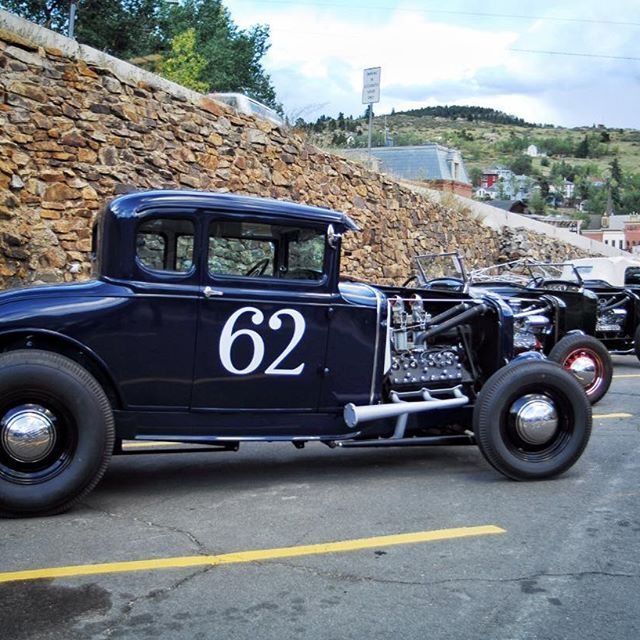 The @hotrodhillclimb is under way and there's no shortage of killer traditional iron on hand. Here's to a fun, fast and safe day ripping through the mountains of Central City, Colorado. #roddersjournal @eastcoastmikes #TRJ #hamb #hotrod #hotrodhillclimb #longliveprint