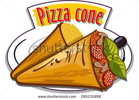 Pizza cone vector