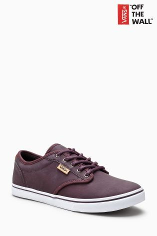 Buy Vans Maroon Leather Atwood Low from Next Slovenia