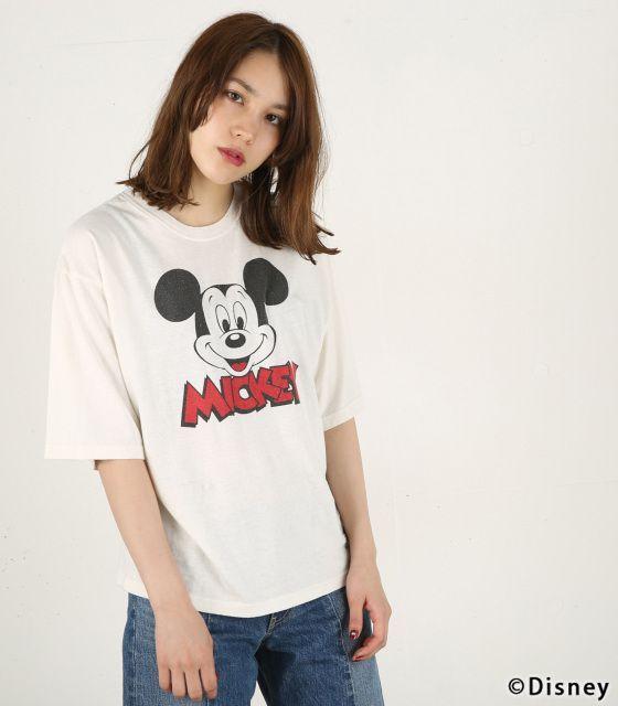 【MOUSSY】MICKEY'S FACE Tシャツです。こちらの商品はSHEL'TTER WEB STOREにて通販購入可能です。SHEL'TTER WEB STOREはブランド公式通販サイトです。