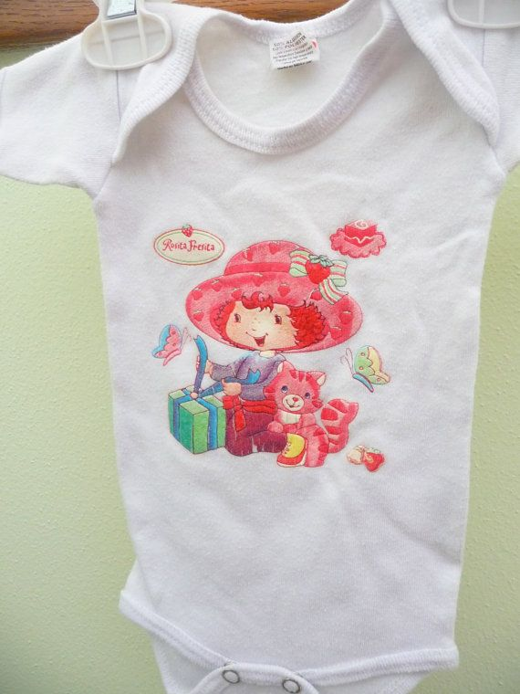 Spring/Summer Strawberry Shortcake Onsie Baby by GreenTreeLane $5.00 & 10 best Strawberry Shortcake Invitations images on Pinterest ...