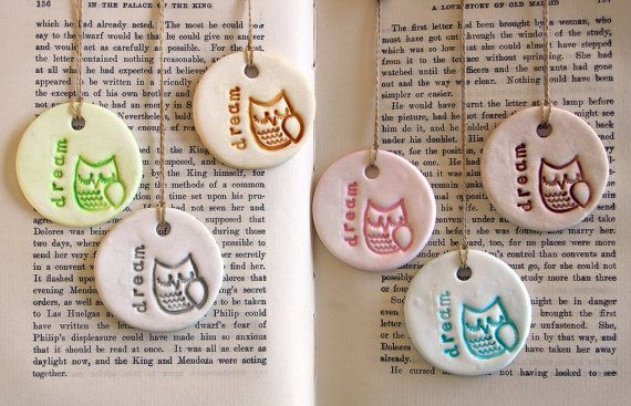 Owl Bookmark in Polymer Clay.