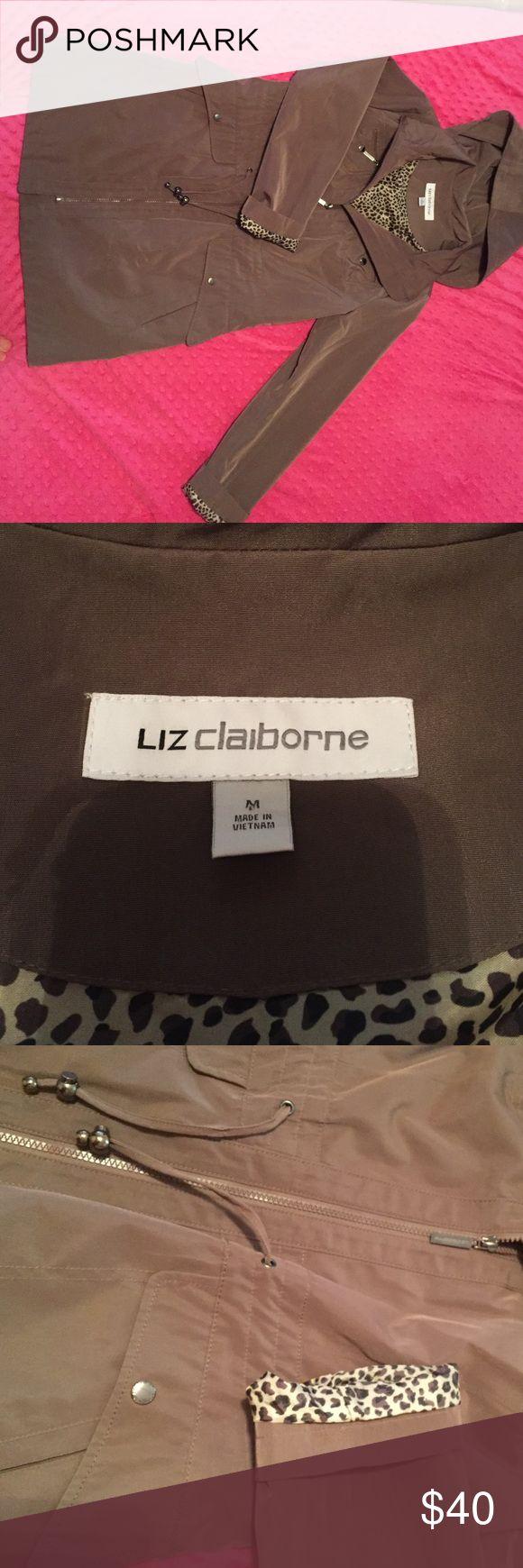 Liz Claiborne knee length coat Liz Claiborne brown knee length coat size medium. Never worn. New without tags. Excellent condition so buy now! Liz Claiborne Jackets & Coats Trench Coats
