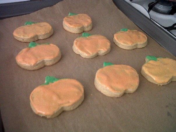 Pumpkin flavored cookies.