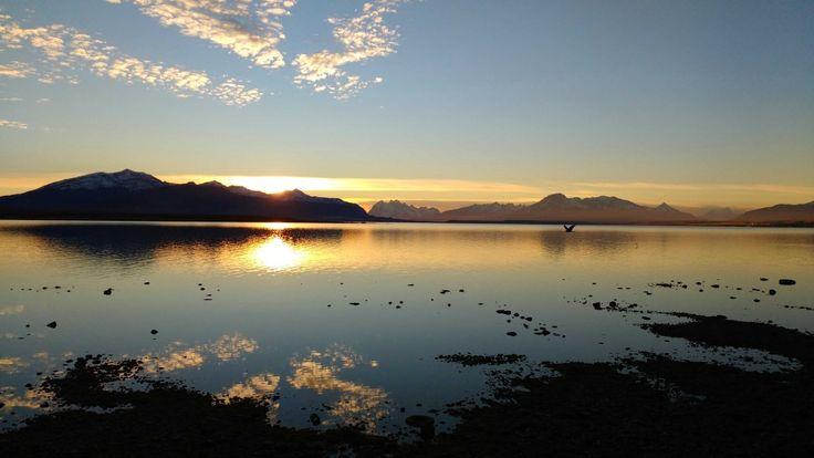Atardecer en Puerto Natales, de los más bonitos que he visto en mi vida