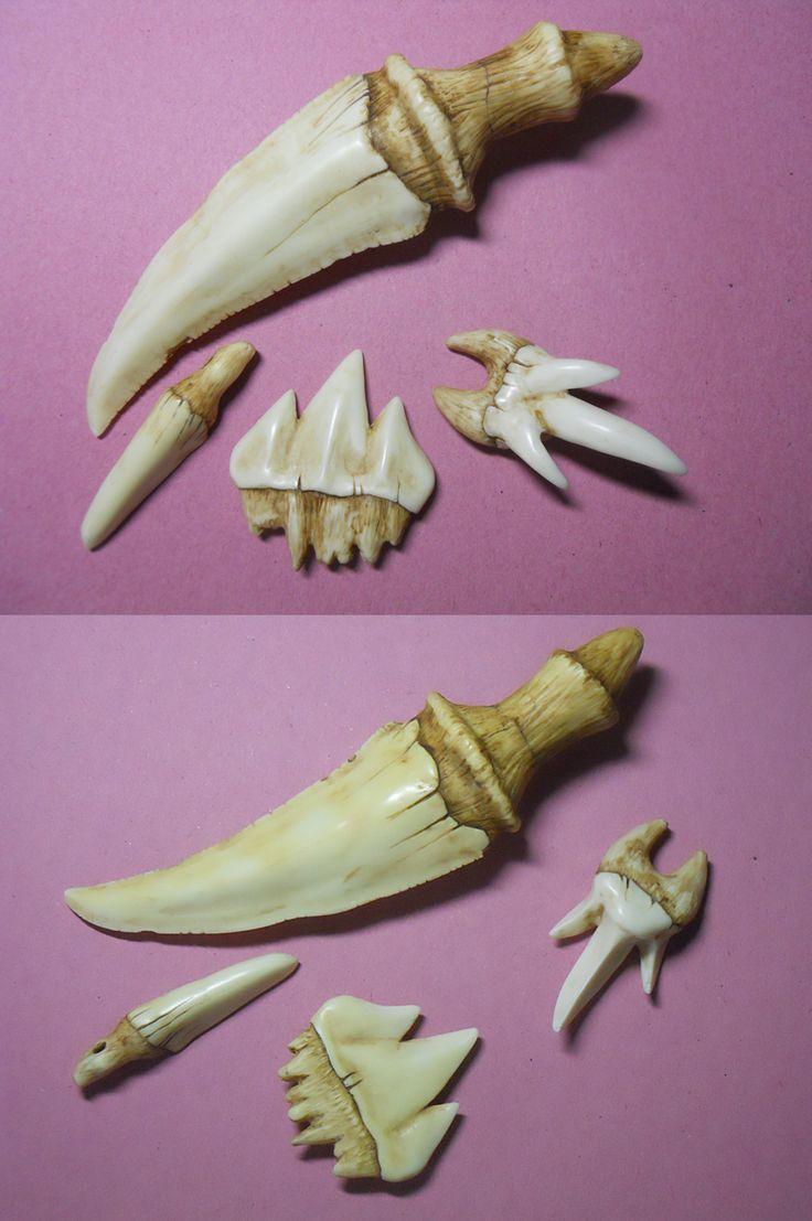 Dragons' Teeth - Relative Sizes by Caerban.deviantart.com on @deviantART