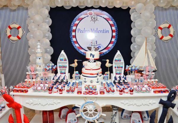 A festa infantil de marinheiro é uma ótima pedida para os chás de bebê ou festa…