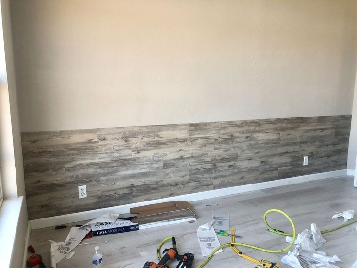 Diy Peel And Stick Vinyl Plank Accent Wall In 2020