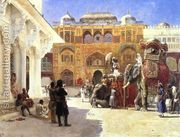 Arrival Of Prince Humbert The Rajah At The Palace Of Amber...  by Edwin Lord Weeks