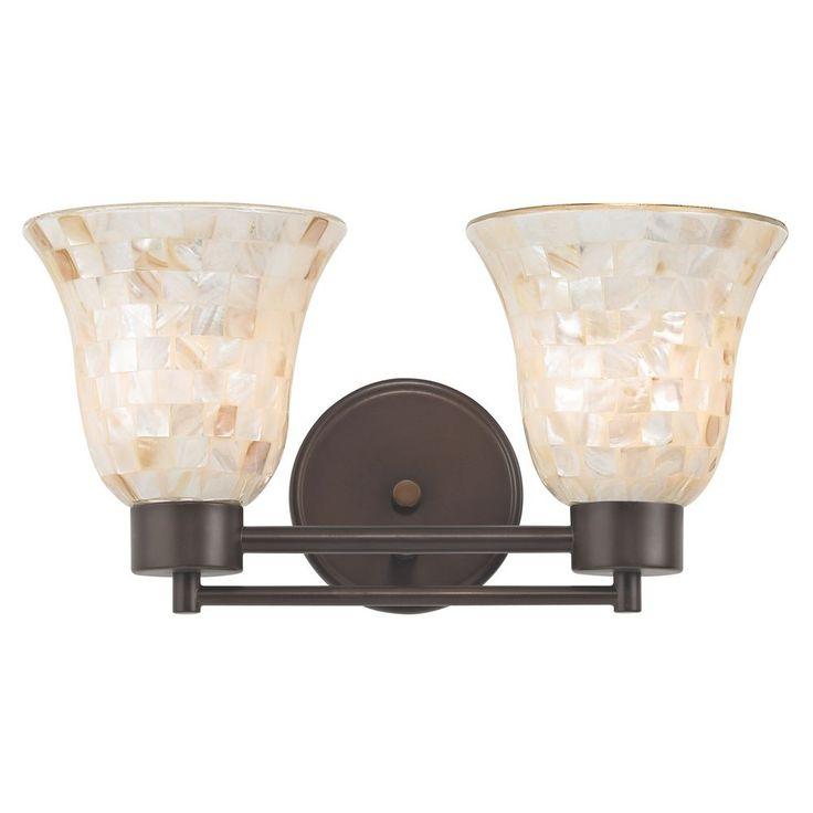 Design Classics Lighting Bathroom Light with Mosaic Glass in Neuvelle Bronze Finish 702-220 GL9222-M