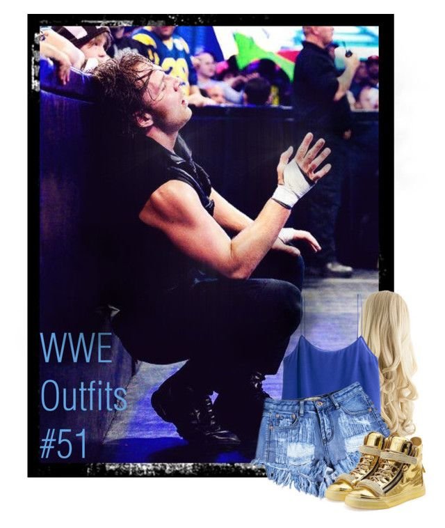 """""""WWE Outfits #51"""" by annacrystal ❤ liked on Polyvore featuring H&M, Giuseppe Zanotti, WWE, outfits, SHIELD and DeanAmbrose"""